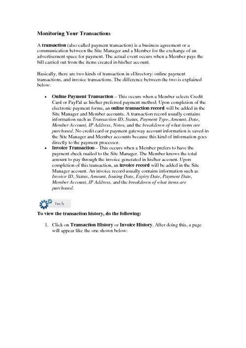 Edirectory Manual