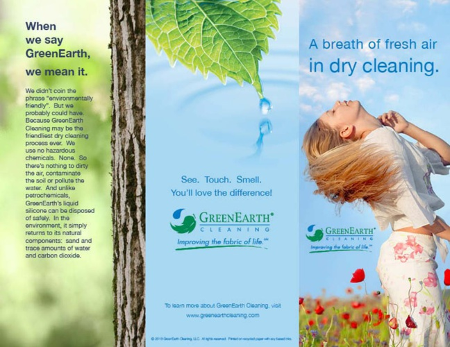 A Fresh New Idea in Dry Cleaning Brochure