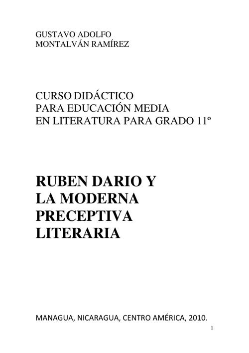 Guía de Literatura del Grado 11avo.