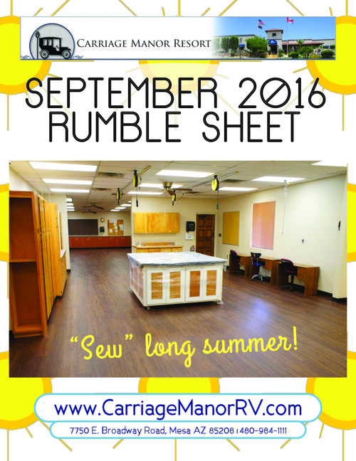September 2016 Rumble Sheet