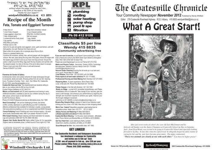 Coatesville Chronicle November 2012