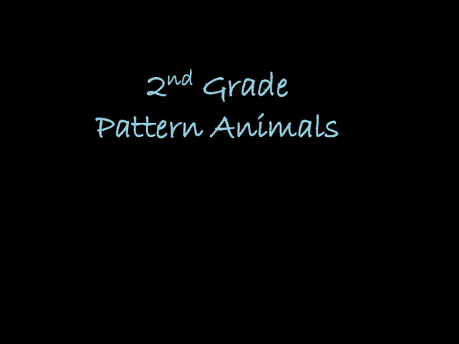 Pattern Animals