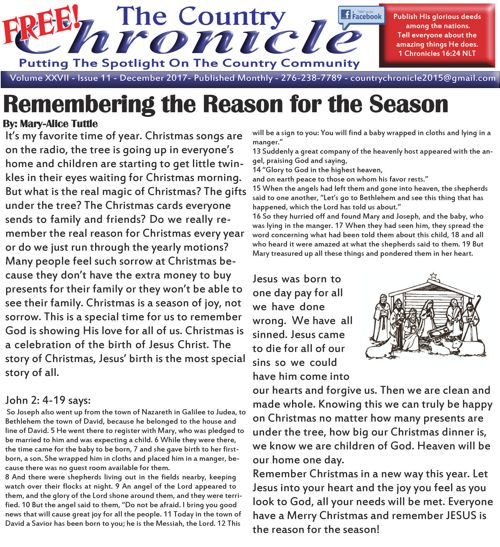 December 17 Country Chronicle