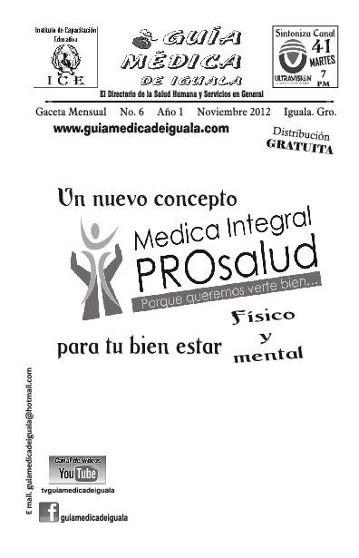 Guía Médica de Iguala (Noviembre 2012