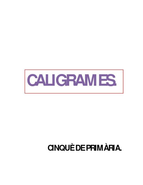 caligrames