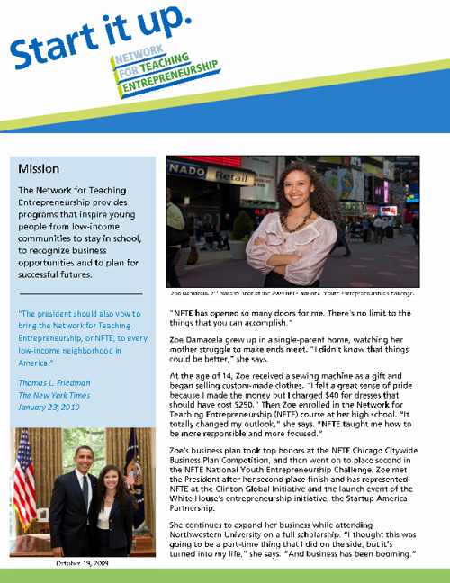 NFTE Marketing Brochure