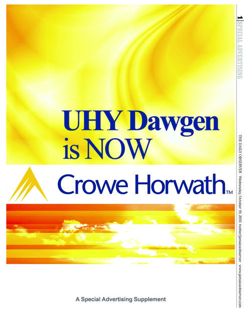 UHY Dawgen is NOW Crowe Horwath Jamaica