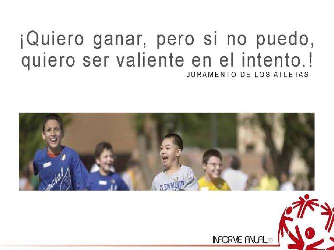 Informe Anual 2009 Olimpiadas Especiales México