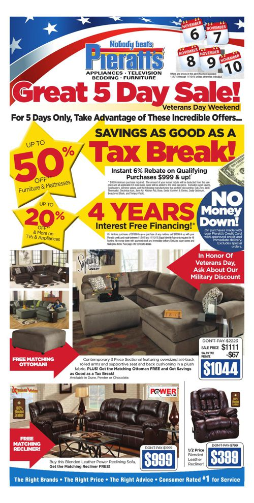 Take Advantage of Veteran's Day Savings for 5 Days Only!