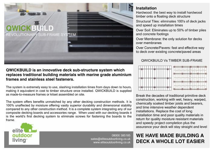QWICKBUILD SUB STRUCTURE - COMPOSITE DECKING