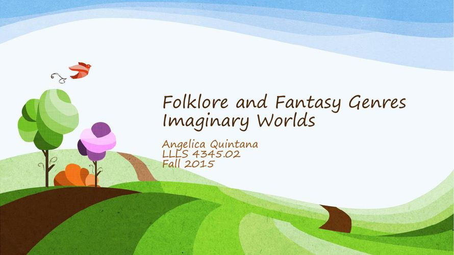 Folklore and Fantasy Genres (1)