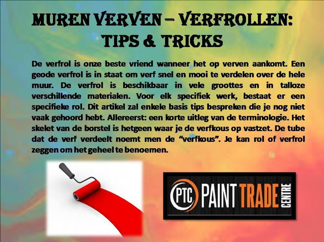 Muren verven – Verfrollen: tips & tricks