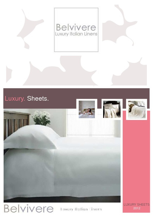 Belvivere Luxury Sheets Collection ss2012
