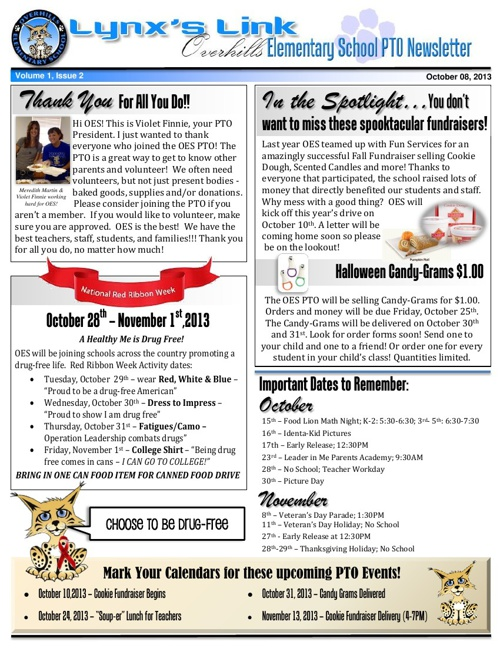 OES October Newsletter