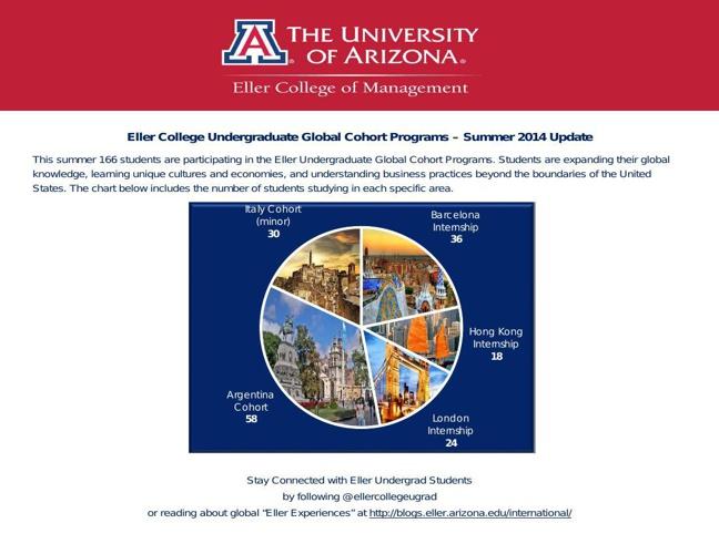 Eller Undergrad Global Cohort Summer 2014