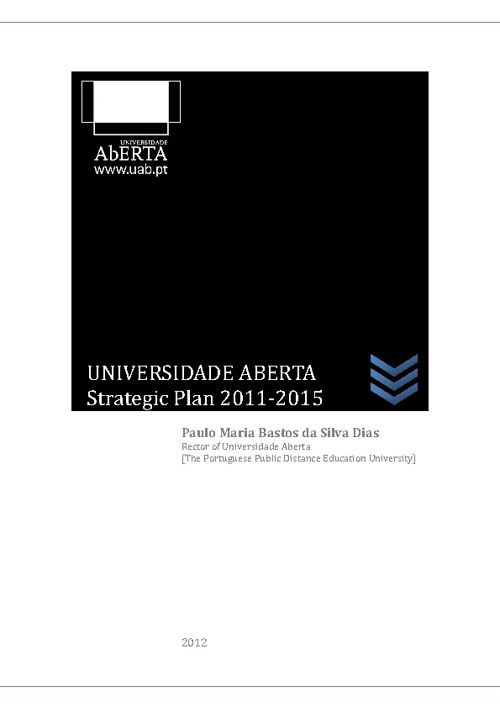 Universidade Aberta - Strategic Plan 2011-2015