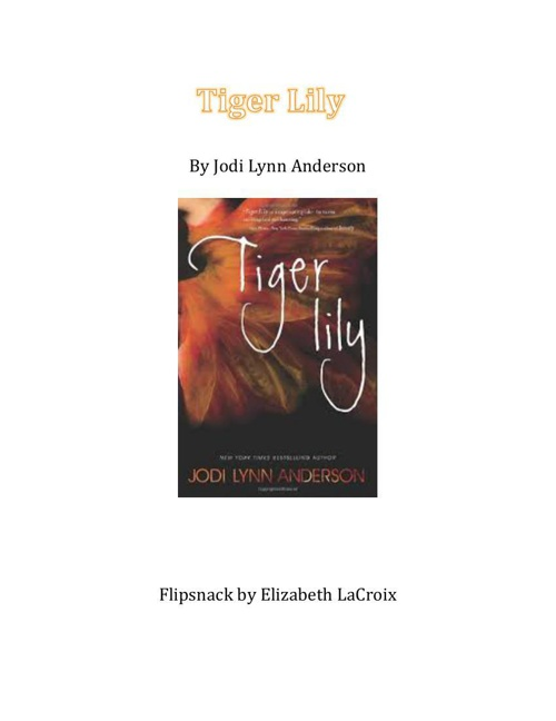 tiger lily title page