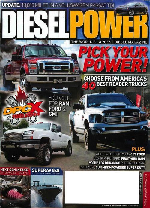 Diesel Power 2013-14 Cummins Intake Editorial - April 2014