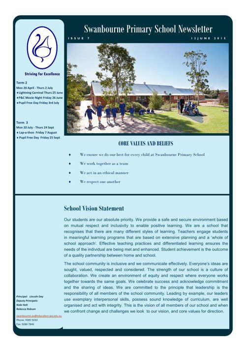Newsletter Term 2            12.06.15
