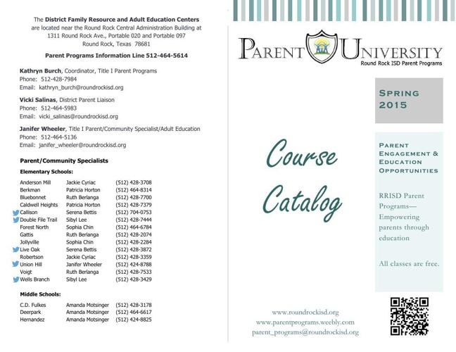 RRISD Parent University Course Catalog