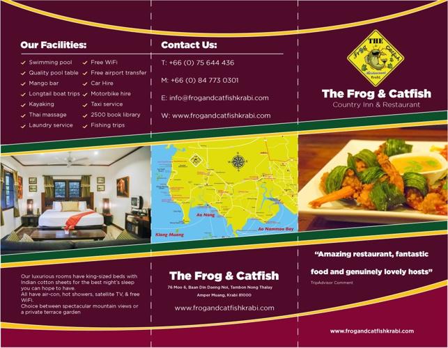 Frog & Catfish Brochure