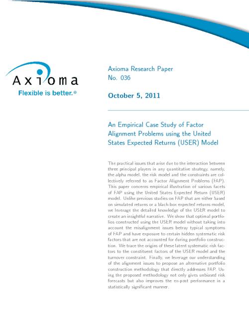 An Empirical Case Study of Factor Alignment Problems