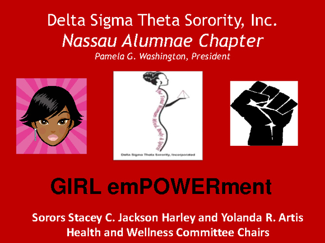 GIRL em POWER ment! Nassau Alumnae Chapter- DST