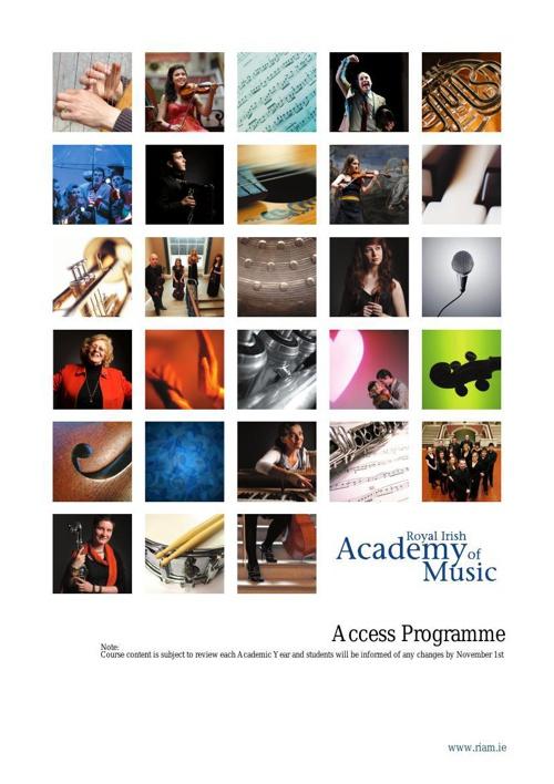 Access Programme Handbook