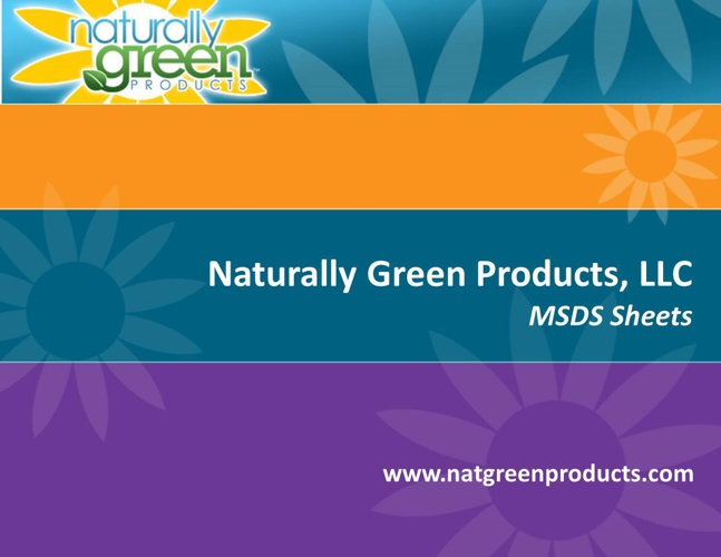 Naturally Green Products Common Use MSDS