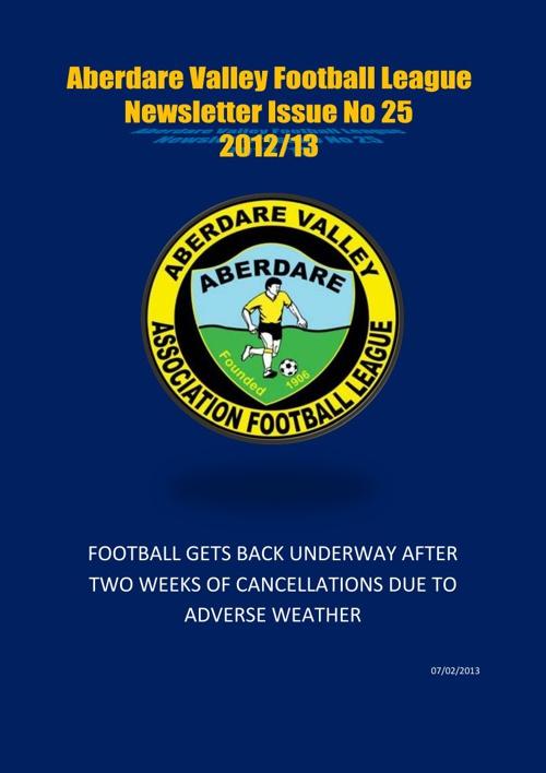 Aberdare Valley Football League Newsletter Issue 25