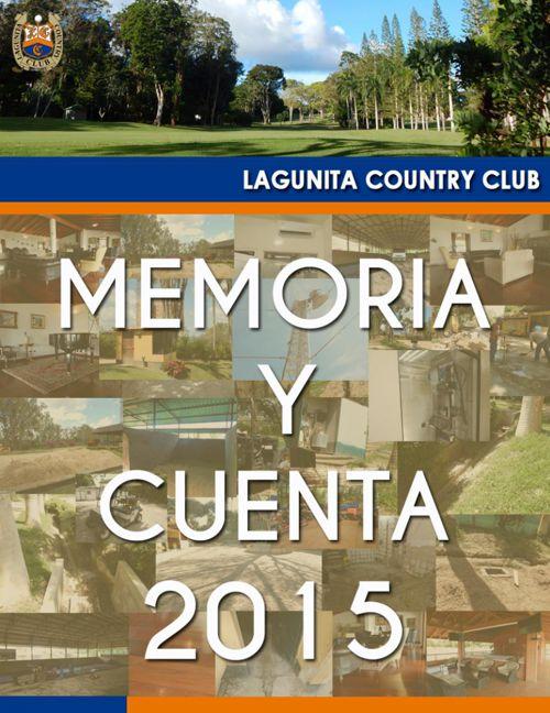 MEMORIA Y CUENTA 2015