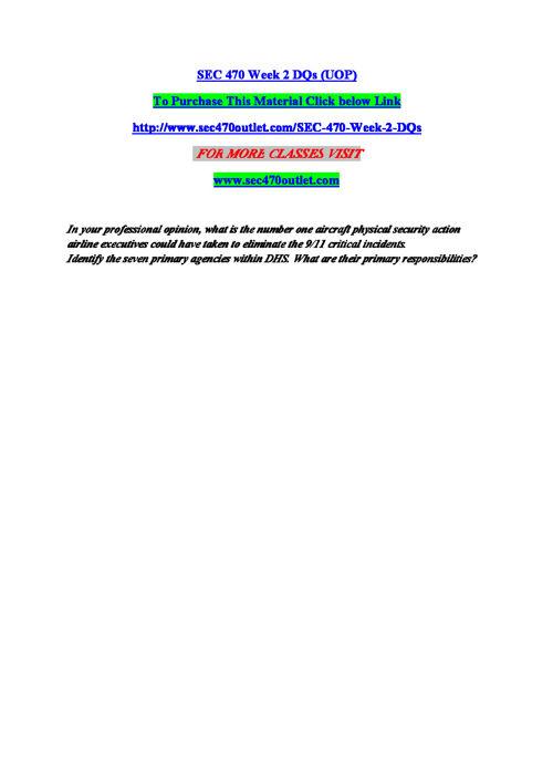 SEC 470 Entire Course (UOP)