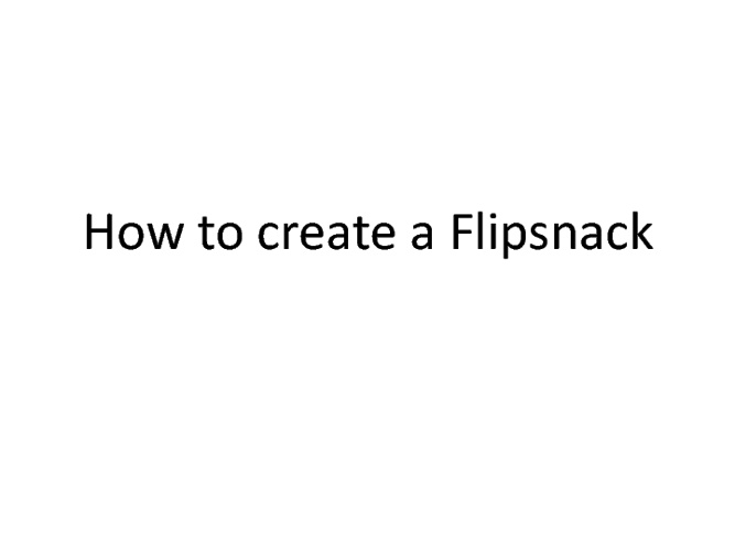 How to make a flipsnack