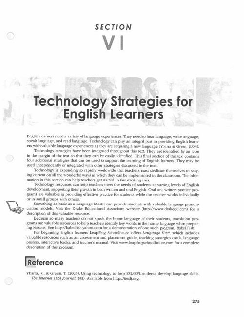 Tech Strategies for ELL