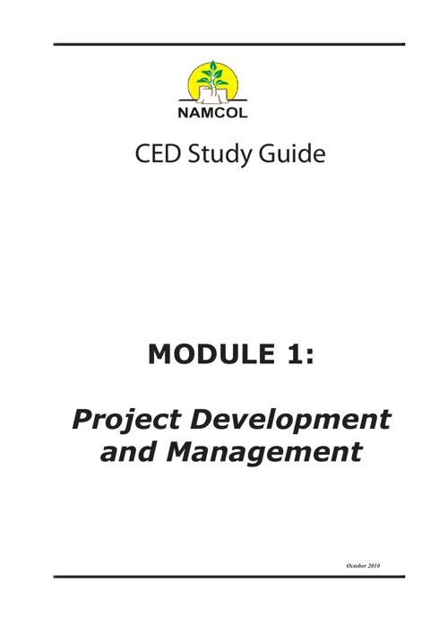 Project Development and Management Module 1