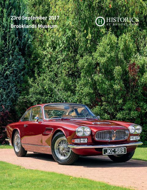 Historics September 2017 Auction catalogue