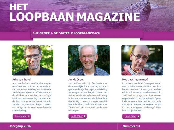 Het Loopbaan Magazine - Talent