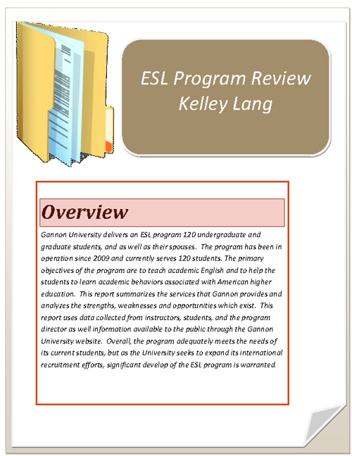 ESL program review