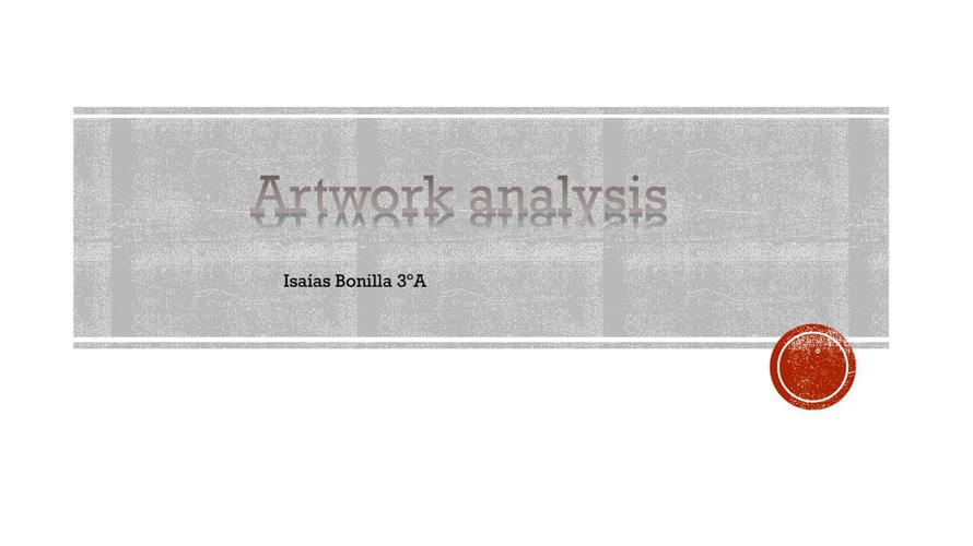 Artwork analysis