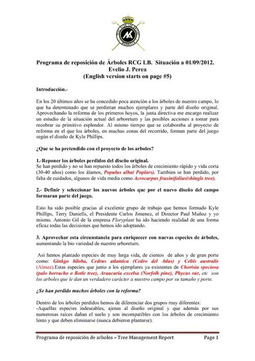 INFORME ARBOLES - TREE MANAGEMENT REPORT