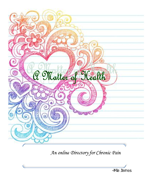 A Matter of Health: An Online Directory for Chronic Pain