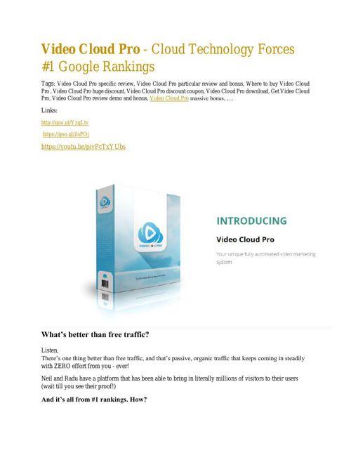 Video Cloud Pro  review - Video Cloud Pro  top notch features