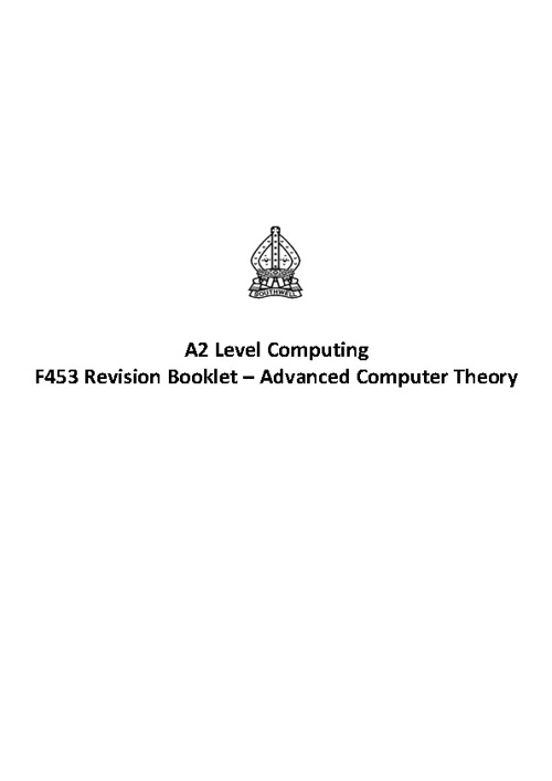 A2 Computing Revision Guide