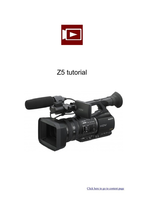 z5 tutorial