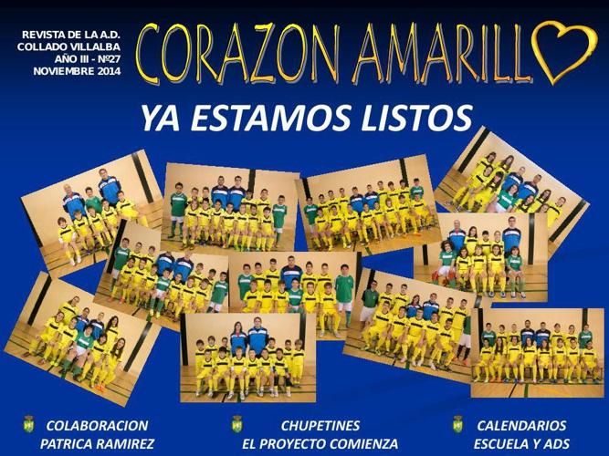 Revista CORAZÓN AMARILLO  Noviembre 2014