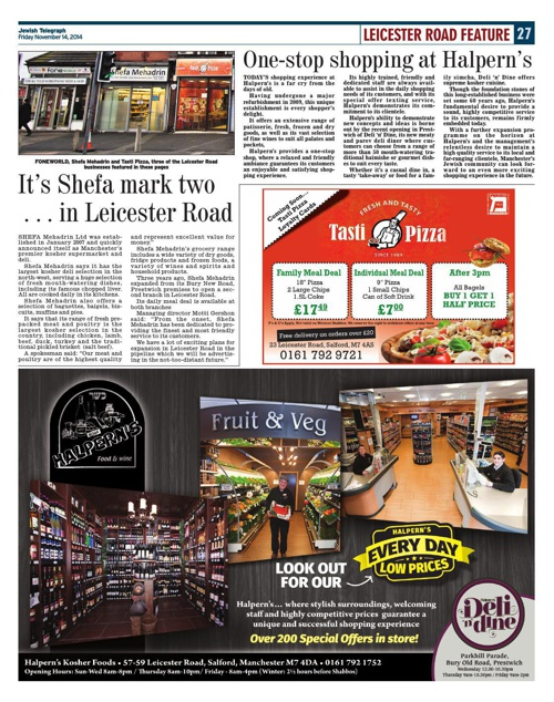 Leicester Road Feature November 2014 - Jewish Telegraph