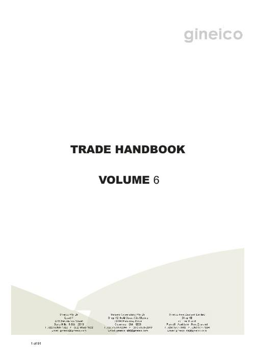 Gineico Marine Handbook