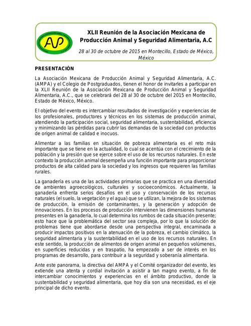 Invitación XLII reunión AMPA_2015