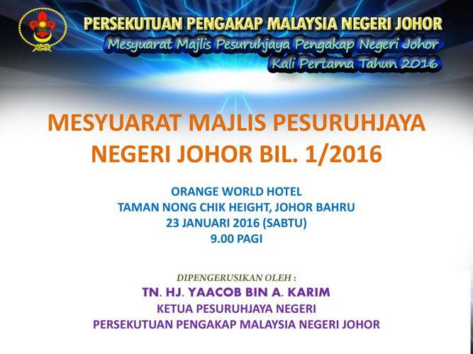 MESYUARAT MAJLIS PESJ BILsatu2016