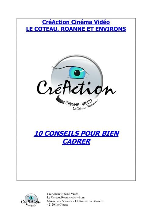 CréAction : 10 conseils pour le cadrage
